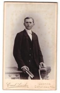 Fotografie Emil Lieske, Sebnitz & Schandau a/E, Portrait junger Mann in Anzug