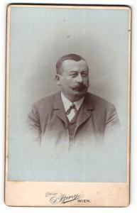 Fotografie Sigmund Bing, Wien, Portrait älterer Herr im Anzug