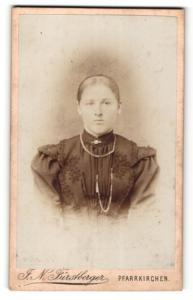 Fotografie F. N. Fürstberger, Pfarrkirchen, Portrait Dame mit Halskette