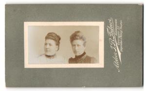 Fotografie J. B. Feilner, Hannover, Portrait zwei bürgerliche Damen