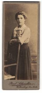 Fotografie Paul Schindler, Wittenberg, Portrait einer jungen Dame