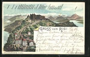 Lithographie Rigi, Panorama