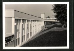 Foto-AK Cham, Erweiterung der Papierfabrik 1959, Neue Fabrikhalle