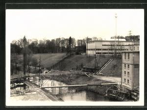 Foto-AK Cham, Erweiterung der Papierfabrik 1959