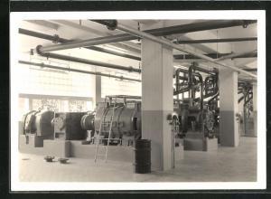 Foto-AK Cham, Erweiterung der Papierfabrik 1959, Maschinenhalle