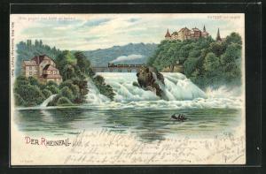 AK Halt gegen das Licht, Wasserfall Rheinfall