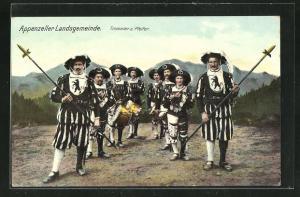 AK Schweiz, Trommler und Pfeifer der Appenzeller Landsgemeinde