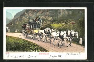 AK Postkutsche in den Bergen, Mailcoach