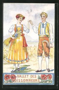 AK Neuchatel, La Fete Federale de Chant Juillet 1912, Ballet des Maoissonneurs