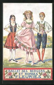 AK Neuchatel, La Fete Federale de Chant Juillet 1912, Ballet des Bergers et Rondes Fleuries