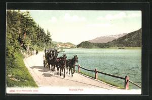 AK Postkutsche der Maloja-Post