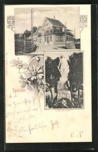 AK Speicher, Restaurant Vögelinsegg, Schlachtdenkmal