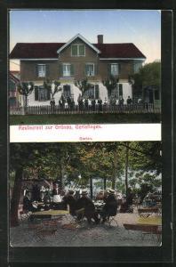 AK Gerlafingen, Restaurant zur Grünau, Garten