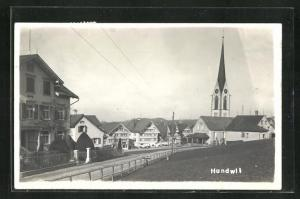 AK Hundwil, Ortsansicht mit Blick auf die Kirche