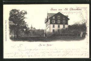 AK Basel, St. Chrischona, Hotel Zu den Bergen