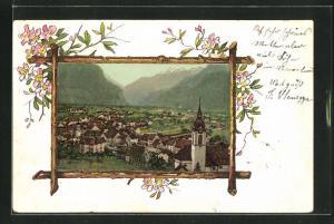 AK Altdorf, Panorama in einem Holzrahmen