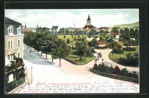 AK Basel, Schützenmattpark mit Pauluskirche