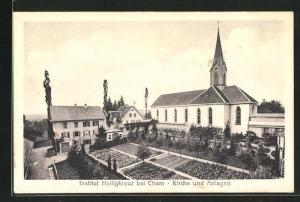 AK Cham, Institut Heiligkreuz, Kirche und Anlagen