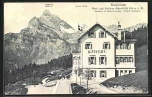AK Braunwald, Gast- und Kurhaus Alpenblick