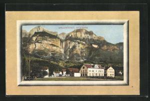 AK Wallenstadt, Kasernen und Felsen