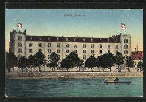 AK Basel, Uferpartie an der Kaserne