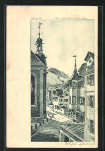 AK St. Gallen, Blick in die Gallusstrasse