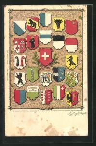 AK Schweiz, Wappen der Schweizer Kantone