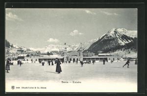 AK Davos, Menschen auf der Eisbahn