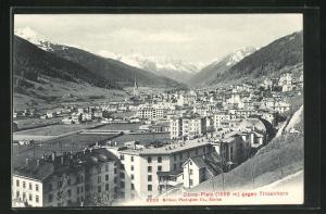 AK Davos-Platz, Ortsansicht gegen Tinzenhorn
