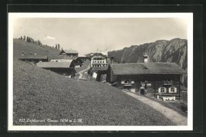 AK Tenna, Ortspartie mit Blick zur Kirche