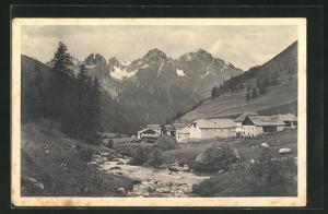 AK Scarl, Ortsansicht mit Pisocgruppe