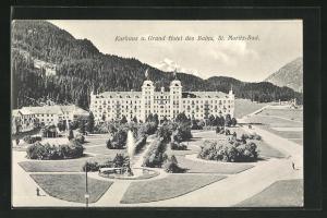 AK St. Moritz-Bad, Kurhaus und Grand Hotel des Bains