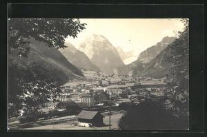 AK Linthal, Blick auf das Dorf und ins Tal
