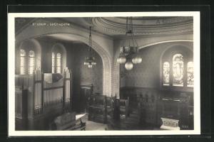 AK St. Loup, La Chapelle, Innenansicht der Kapelle