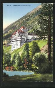 AK Pontresina, Blick zum Schlosshotel