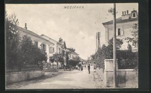 AK Mezières, Blick in den Ort