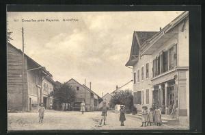 AK Corcelles-près-Payerne, Grand`rue, Ortspartie