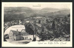 AK Kiffis, Gasthaus Dietlin, Gesamtansicht vom Dorf