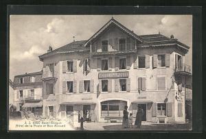 AK Saint-Cergue, Hotel de la Poste et Bon Accueil