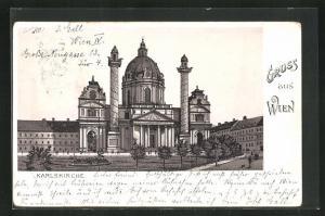 Lithographie Wien, Karlskirche