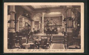 AK Amsterdam, Cafe Moderne G. J. de Boer, Heiligeweg 26-28