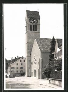 Foto-AK Uznach, Blick auf die Kirche