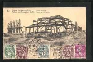 AK Nieuwpoort-Baden, Ruinen van het Casino
