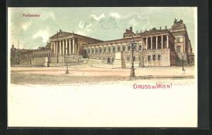 Künstler-AK Wien, Blick auf das Parlament