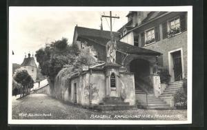 AK Bregenz, Kapuzinerstiege und Pfarrkirche