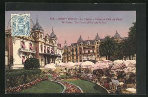 Künstler-AK Monte Carlo, Le Casino, Terrasse Cafe de Paris