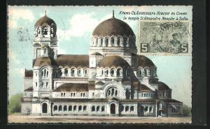 Künstler-AK Sofia, le temple St. Alexandre Newsky