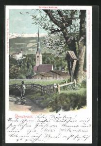 AK Innsbruck, Schloss Ambras und Kirche