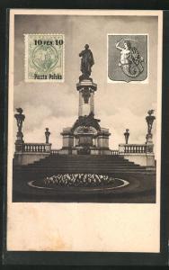 AK Warschau-Warszawa, Mickiewicz Denkmal