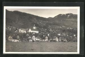 AK Walchwil, Blick über den Fluss auf den Ort